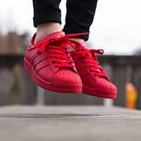 Кроссовки в стиле Adidas Superstar Supercolor Red мужские
