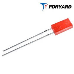 Светодиод красный 5x2mm. FYL-2513 HD  20-25mсd (700nm) прямоугольный, диффузный, 120° FORYARD