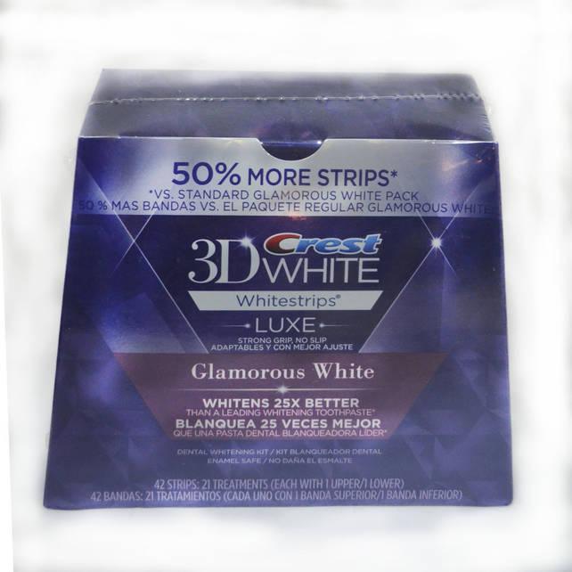 Отбеливающие полоски 3D Whitestrips Luxse Glamorus White
