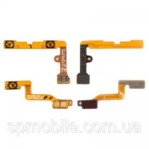 Шлейф Samsung i9200 Galaxy Mega 6.3, i9205 Galaxy Mega 6.3, кнопки включення, з компонентами