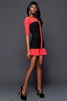 Кокетливое женское платье Маркиза красное
