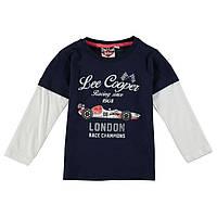 Детская футболка Lee Cooper c двойным длинным рукавом для мальчика