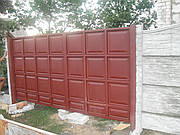 Ворота филёнчатые (штампованная)