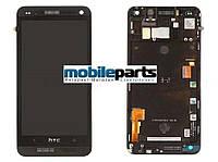Оригинальный дисплей (модуль) + сенсор (тачскрин) для HTC One M7 | 801e (черный с рамкой)