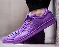 Кроссовки женские Adidas Superstar Supercolor (адидас) фиолетовые