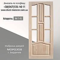 Межкомнатные Двери из дерева сосны, дверное полотно под стекло, Модель: М1/6