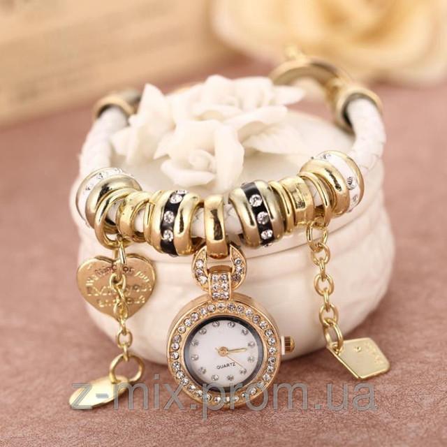 Часы-браслет в стиле Pandora Пандора Золотого цвета