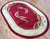 Турецкий ковер красного с бежевым цвета