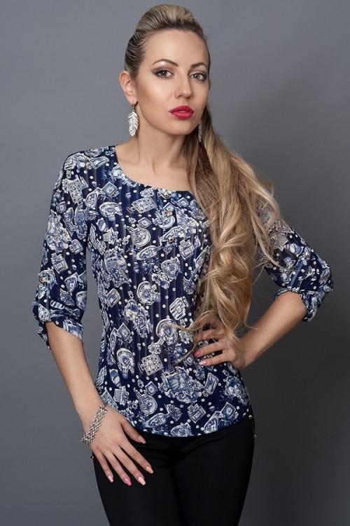 Летняя шифоновая женская блузка