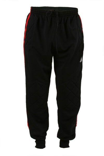 Футбольные вратарские штаны (брюки) Liga Sport (Черные с красным) -