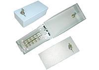 Бокс распределительный телефонный под 2 плинта с врезными контактами (на 20 пар), стальной, с замком, IP30