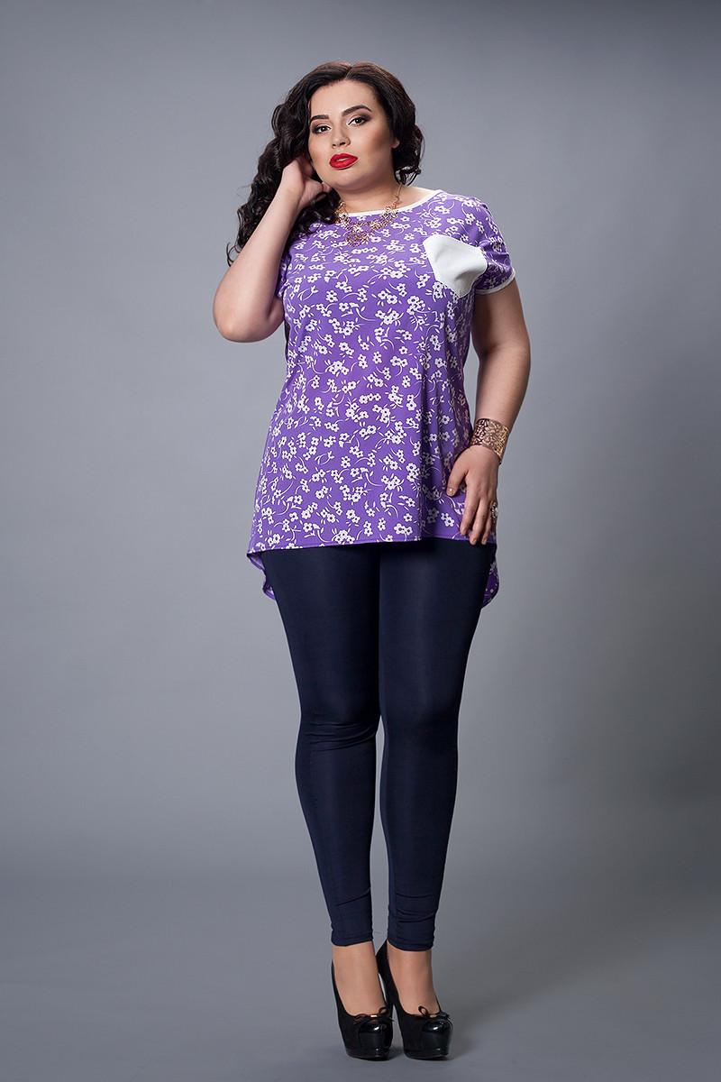 Блуза  мод 503-3 размер 48-50,50-52,52-54,54-56 сирень