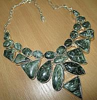 Королевское шикарное ожерелье с натуральными серафинитами от студии LadyStyle.Biz