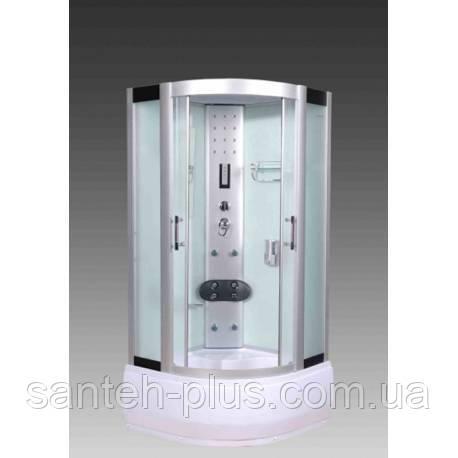 Гидробокс 100*100 с глубоким поддоном и белыми стенками