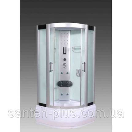 Гидробокс 100*100 с глубоким поддоном и белыми стенками, фото 2