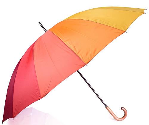 Радужный зонт трость женский механический Happy Rain (Rainy Days) U44852