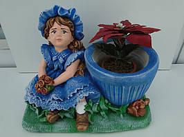 Девочка кашпо для цветов синяя бесплатная доставка при 100 % предоплате