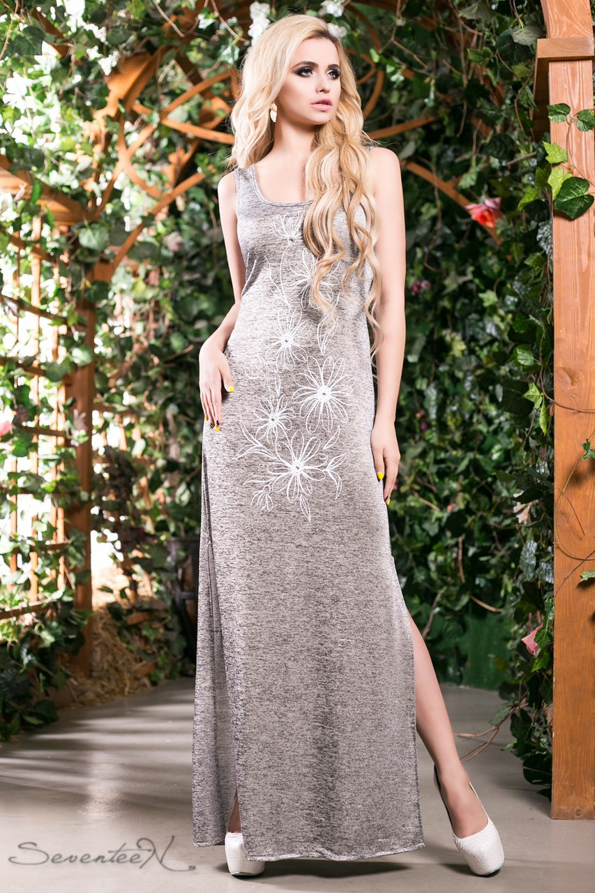 d1215c3c997b6af Стильное женское летнее платье в пол