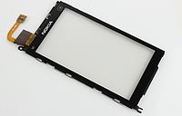 Оригинальный тачскрин / сенсор (сенсорное стекло) с рамкой для Nokia X6 X6-00 (черный цвет)
