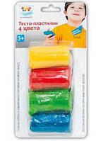 Набор для творчества Genio Kids тесто-пластилин 4 кол. TA 1055 B