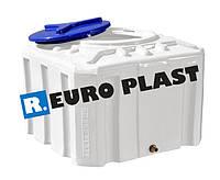 Пластиковый бак Euro Plast квадратный 100 литров RКО 100 однослойный ( куб )