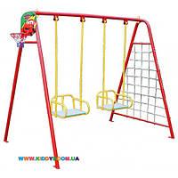 Качели  для двух детей (качели+баскетбольное кольцо+ гладиаторская сетка+дартс) Dali 702/k