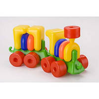 Конструктор Паровоз с прицепом Toys Plast ИП.02.000