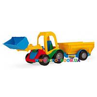 Трактор-багги с ковшом и прицепом Wader 39229