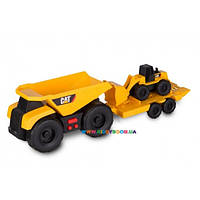 Минитрейлер Самосвал и прицеп c погрузчиком Cat Toy State 34762