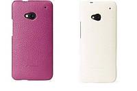Кожаный чехол-накладка для телефона HTC One Mini (Melkco Snap leather cover white)
