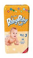 Подгузники BabyBaby Soft Premium Midi 3 (4-9 кг) 56 шт.