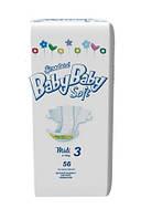 Подгузники BabyBaby Soft Стандарт Midi 3 (4-9 кг) 56 шт.