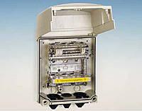 Бокс распределительный настенный 210x191x108мм (под 5 плинтов), пластиковый, с задвижкам, IP 64