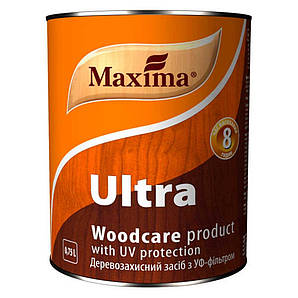 Деревозащитное средство с УФ-фильтром Maxima Ultra 0.75л Красное дерево Уценка Maxima