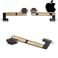Шлейф для iPad Mini 3 Retina, коннектора зарядки, с компонентами, черный, оригинал