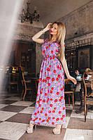 Платье в пол в цветок