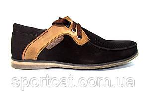 Мужские мокасины Madoks, перфорированный нубук, коричневые