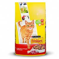 Сухой корм для кошек Фрискас (FRISKIES) с мясом, курицей и печенью, 10 кг