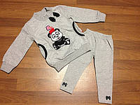 Детская одежда оптом Костюм туника и лосины для девочек оптом р.92-110, фото 1