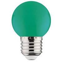 LED Лампа зеленая G45 1W E27