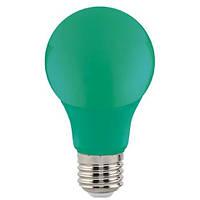 LED Лампа зеленая А60 3W E27