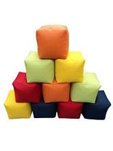 Кресло-мешок Куб 30, 40, 50 см Эко Кожвинил (цвета в ассортименте)