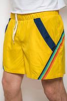 Шорты мужские спортивные короткие 1311 желтые, на резинке
