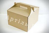 Коробка для торту та тістечок 255*255*185 БУРА
