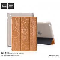 Чехол для iPad 2/3/4 - Hoco Cube series, коричневый