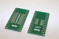 Панелька-переходник TSSOP28 SSOP28 MSOP28 SOP28 на DIP28   0,65мм 1,27мм