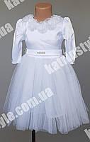 Нарядное платье для девочек украшенное цветами