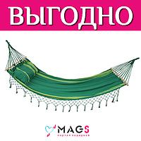 """Купить Гамак """"Семейный"""" 220x160 см  с перекладинами и подушкой"""