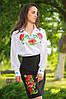 Женская блуза с вышивкой «Українська чарівність» (белая)