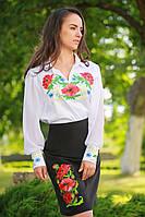 Женская блуза с вышивкой «Українська чарівність» (белая), фото 1